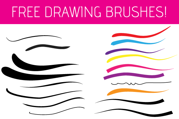 600x400 Free Illustrator Drawing Brushes