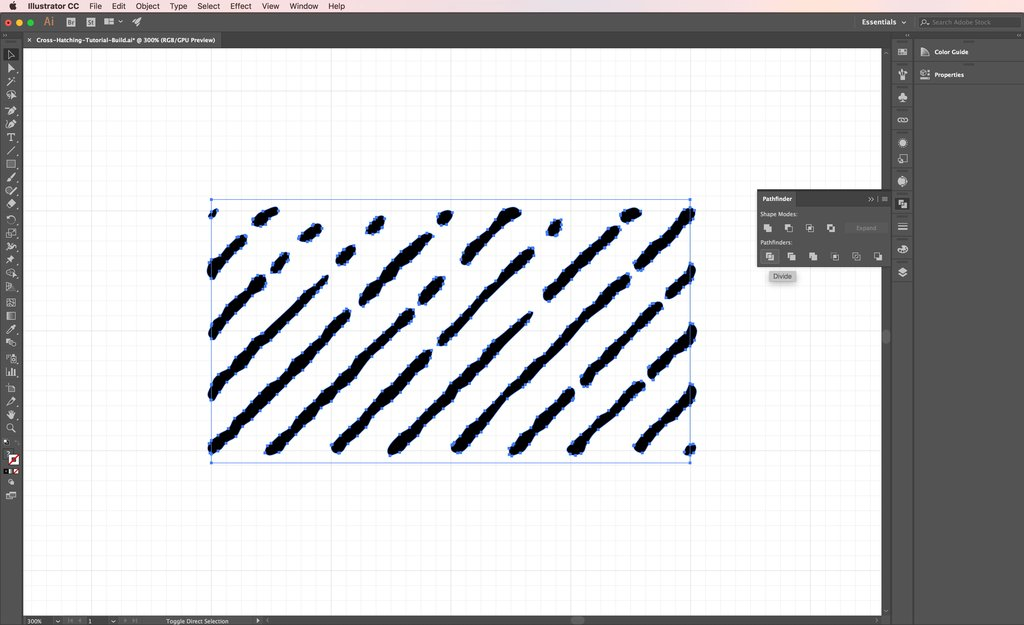 1024x625 How To Make No Stretch Cross Hatching Pattern Brushes