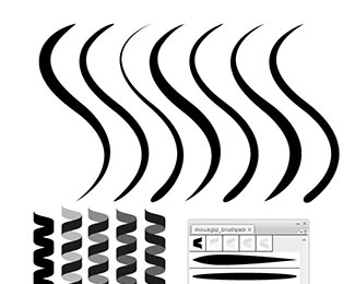 325x260 Free Illustrator Brush Sets Bashooka