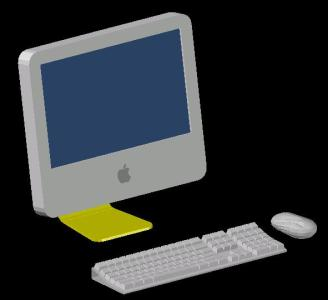 328x300 Apple Imac With Keyboard In Autocad Cad
