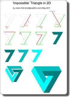 236x324 best impossible triangle images penrose triangle, impossible