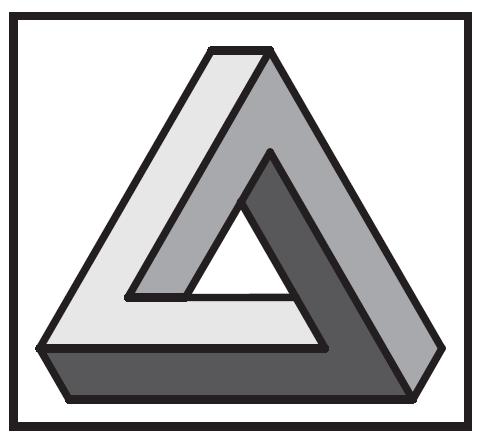 482x439 penrose triangle tattoos penrose triangle, impossible triangle