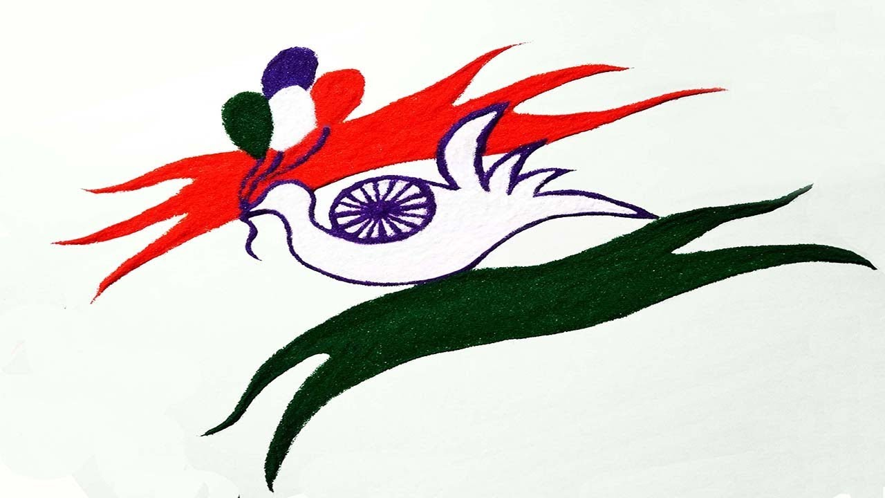 1280x720 happy independence day august special rangoli republic day