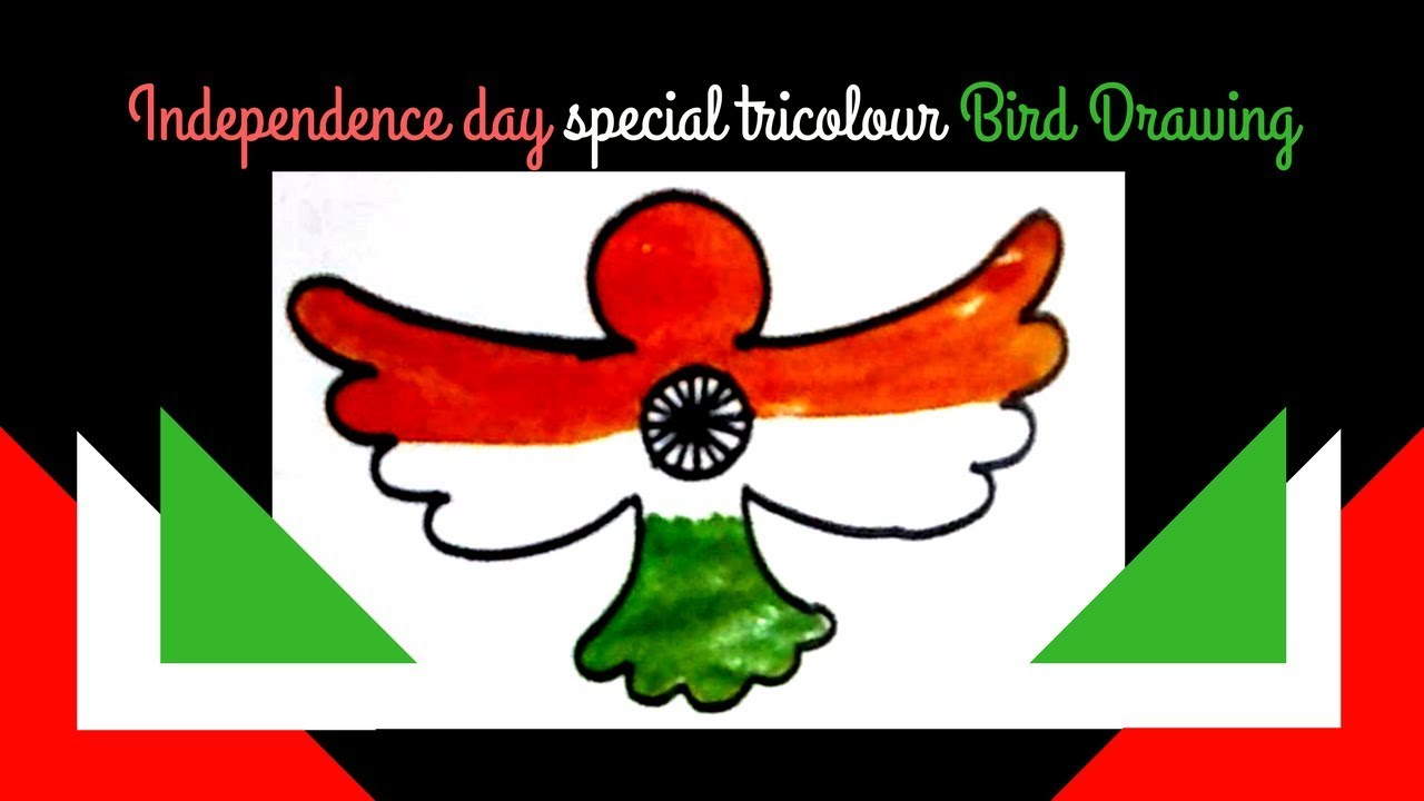 1280x720 independence day special drawing independence day tricolour bird