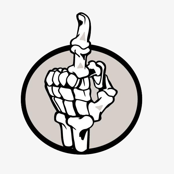600x600 fig finger, finger, index finger, skull bones png clipart image