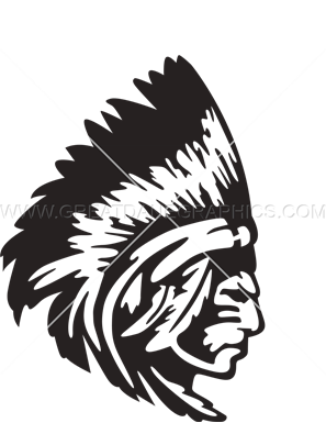 297x385 Indian Chief Profile Production Ready Artwork For T Shirt Printing
