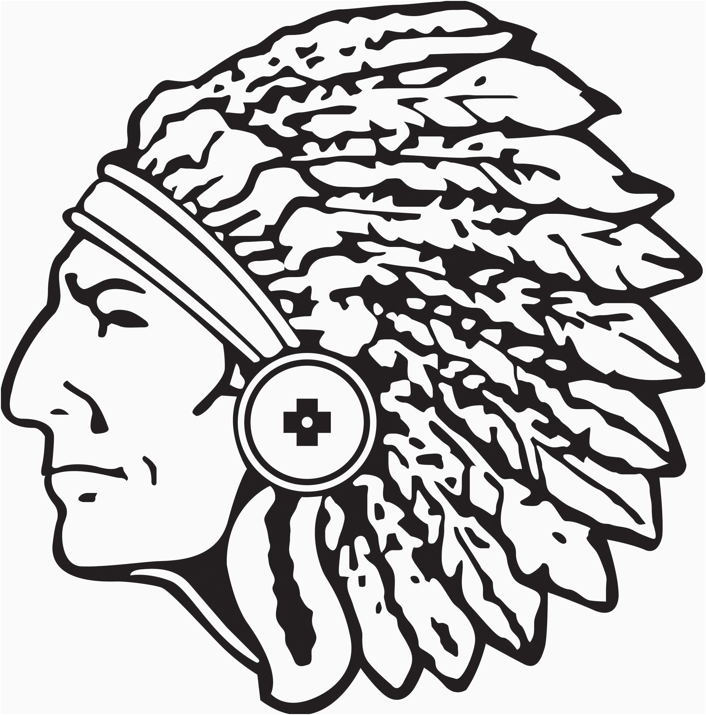 2324x2354 Indian Head Clipart