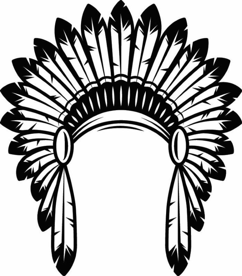 794x902 Indian Headdress Native American Head Dress Tribe Chief Etsy
