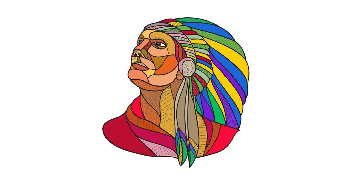 1200x630 Native American Indian Chief Headdress Drawing