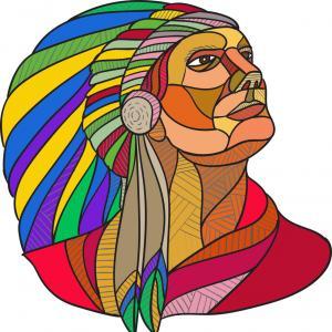 300x300 Native American Indian Chief Headdress Drawing Vector Soidergi