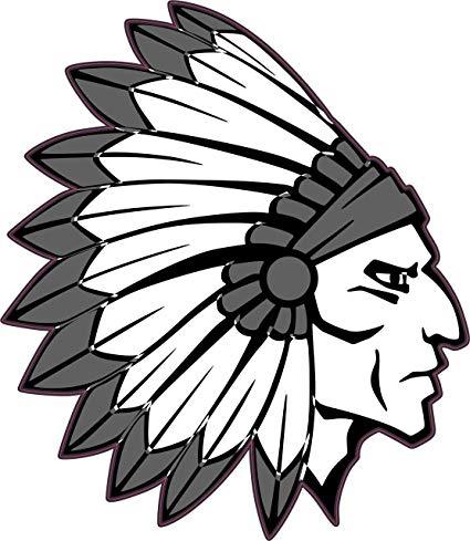 425x489 Stickertalk Die Cut Indian Head Mascot