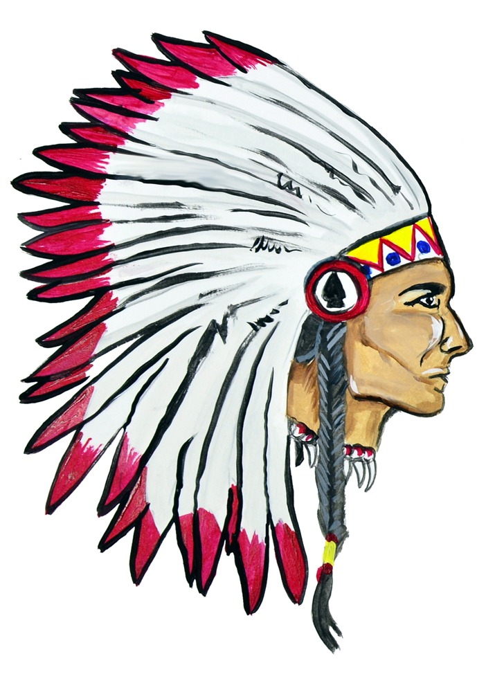 702x1000 Big Indian Chief Head Sticker Decal Home Office Dorm Wall