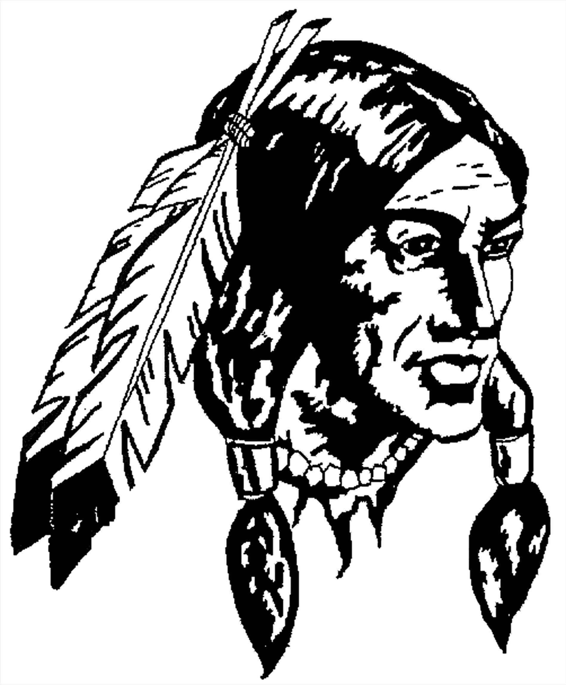 Indian Head Drawing