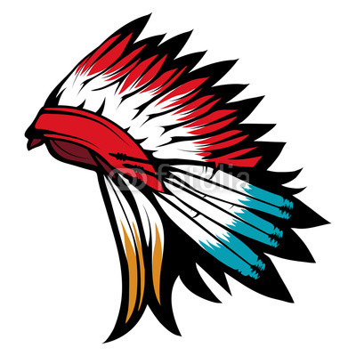 400x400 american indian chief headdress, indian chief headdress colored
