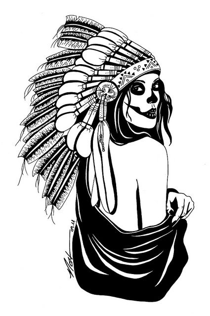 425x640 indian skull drawings indian skull, indian skull tattoos
