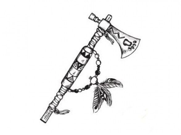 Indian Tomahawk Drawing | Free download best Indian Tomahawk