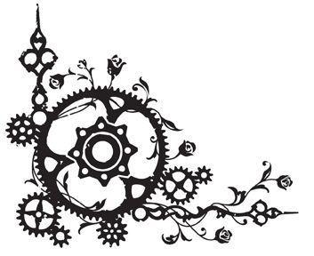 353x288 tattoos steampunk drawing, steampunk