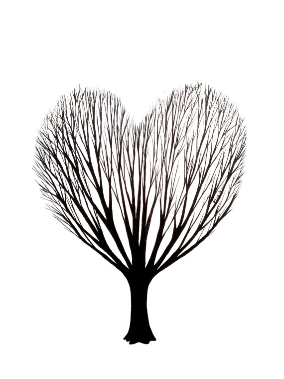 Ink Heart Drawing