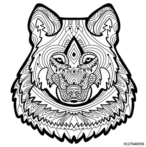496x500 Strong Wolf Is Drawn