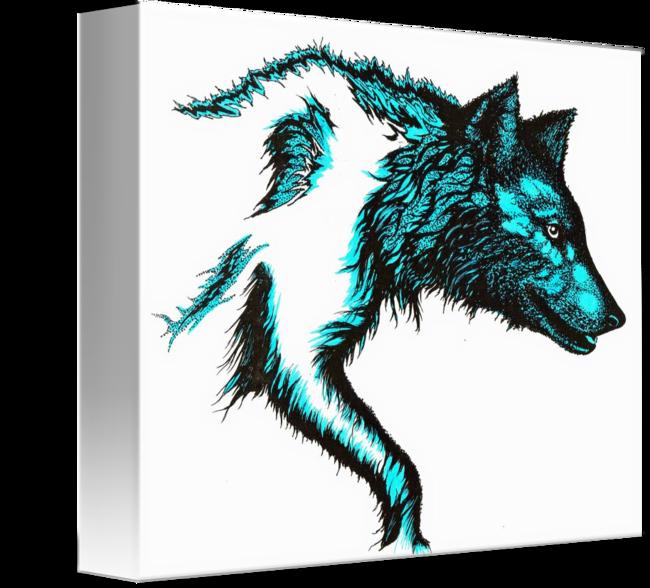650x588 Wolf Stalking Blue