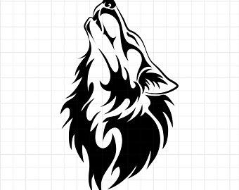 340x270 Wolf Head Print Etsy