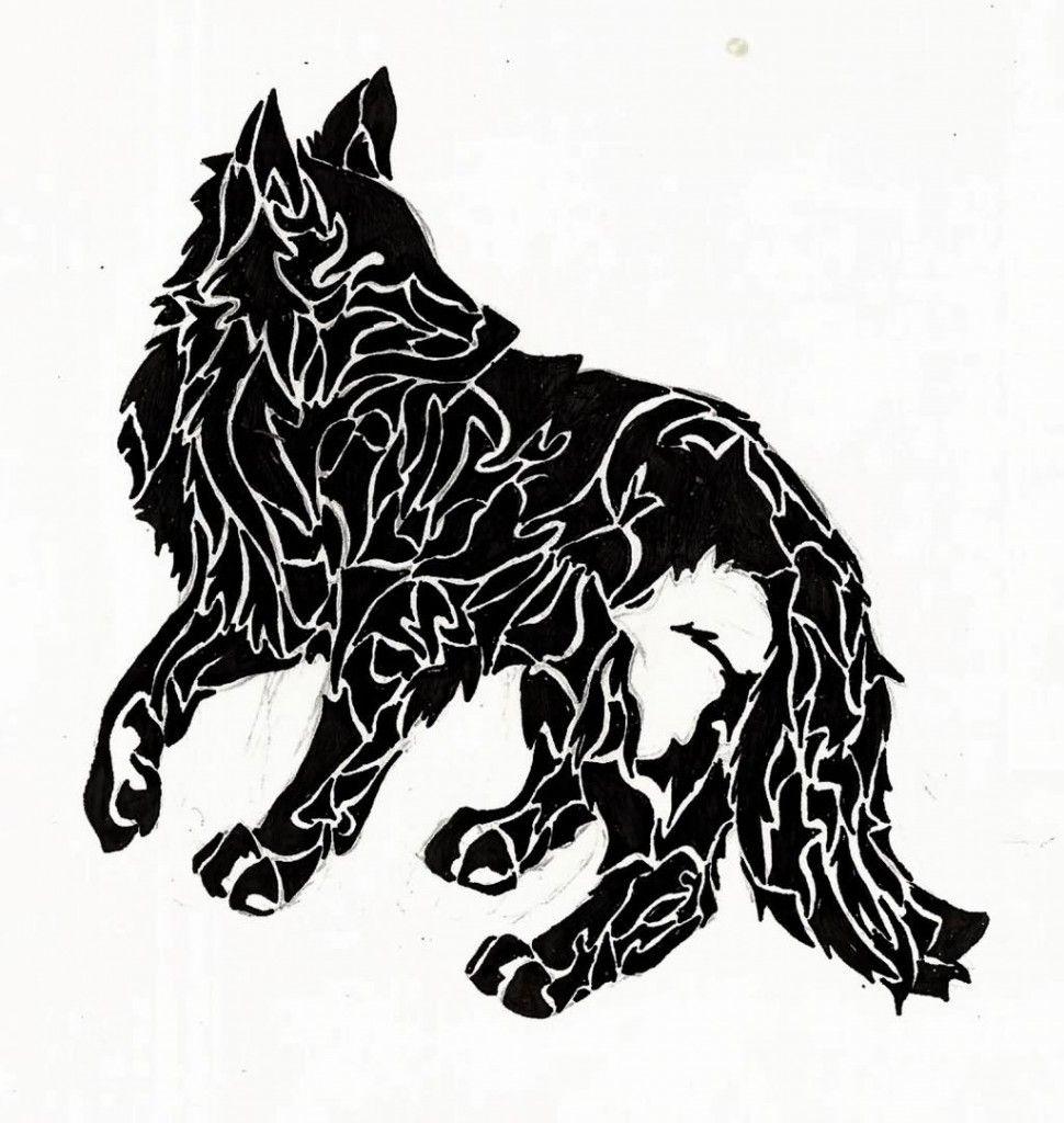 970x1024 Wolf Black Ink Tattoo Interesting Ink Wolf Tattoos
