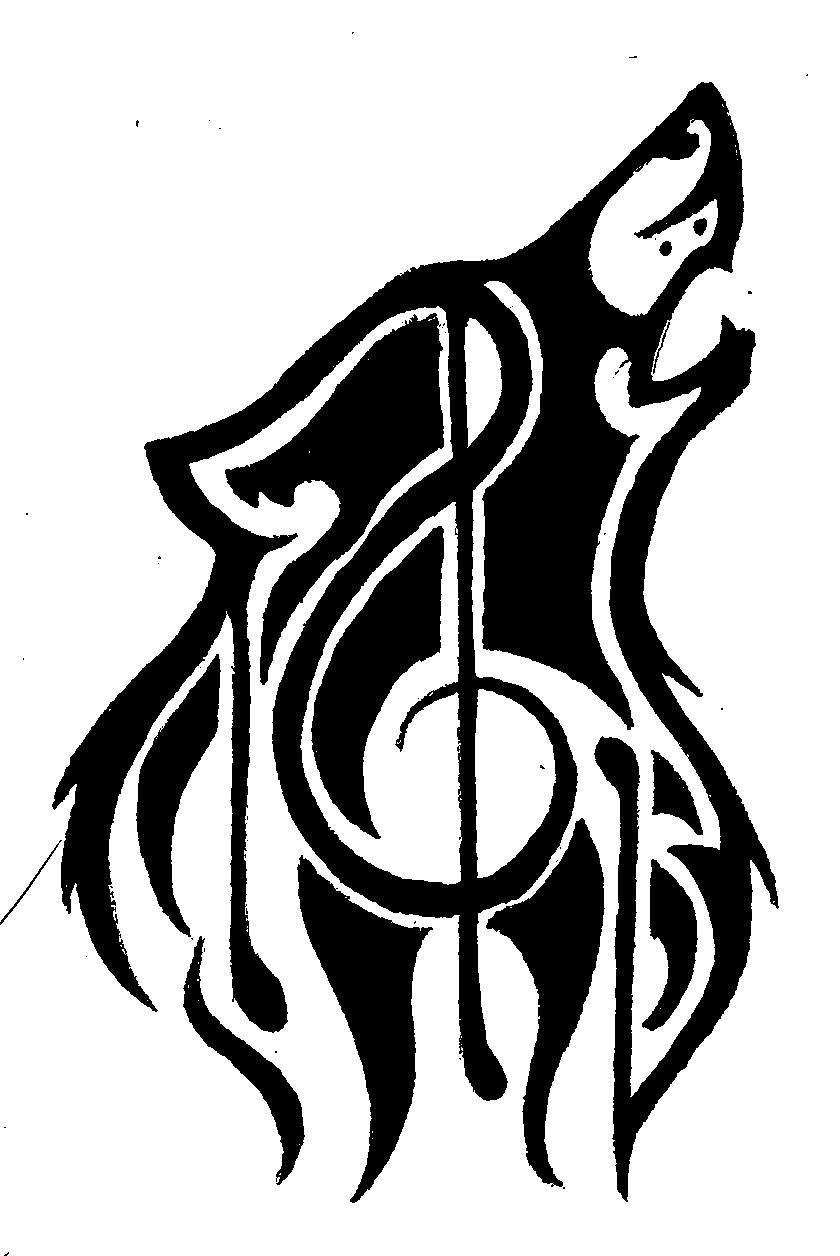 840x1256 Black Ink Tribal Wolf Head Tattoo Design