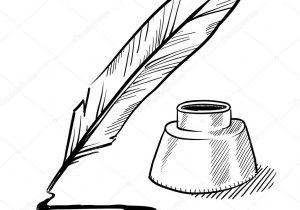 300x210 Drawing With A Quill Pen How To Draw A Quill, Quill Pen, Stepstep