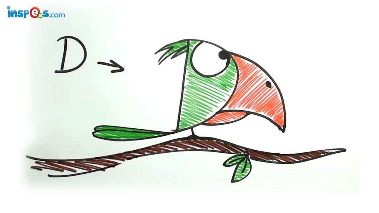 1280x720 Make Parrot From Alphabet D