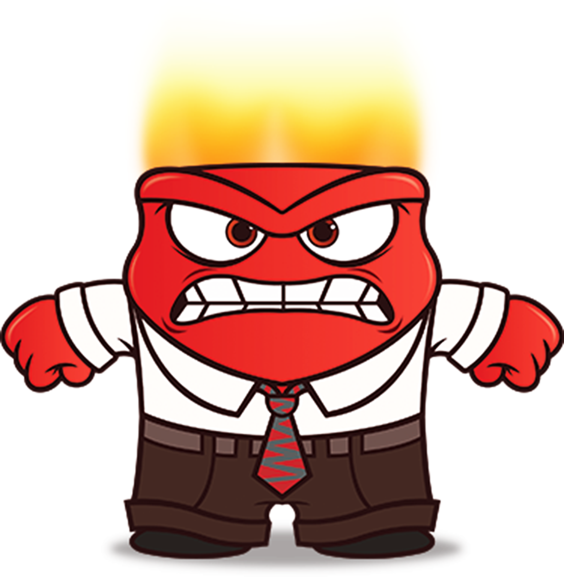 Inside Out Anger Drawing