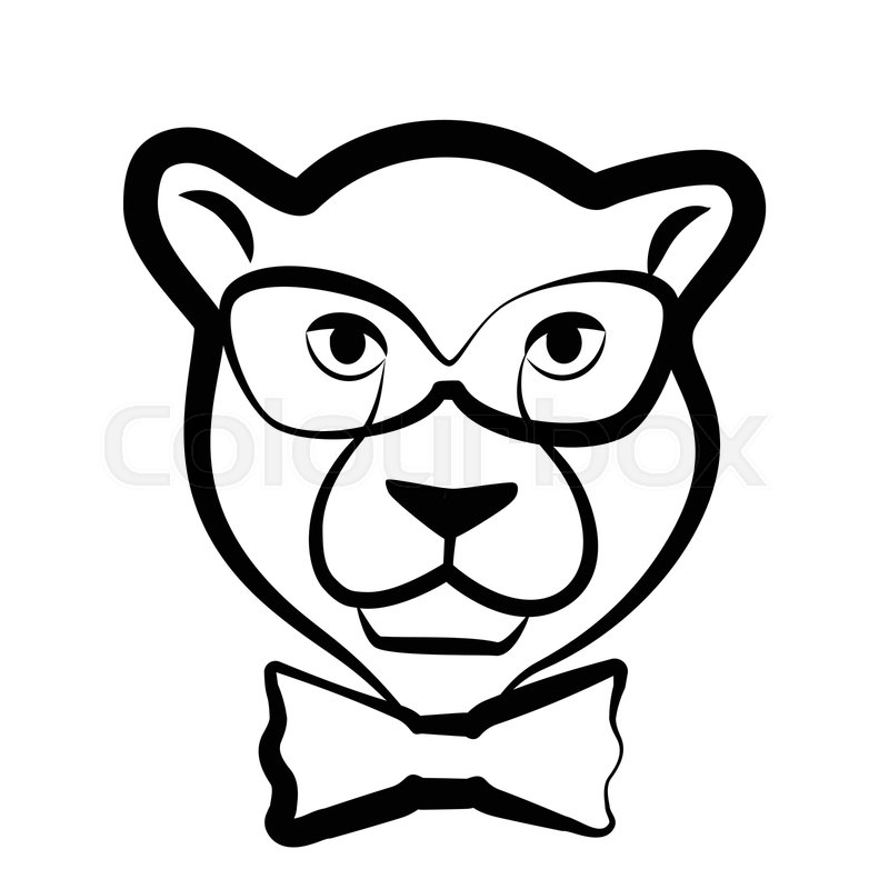 800x800 Intelligent Panther Or Leopard Icon Or Stock Vector Colourbox