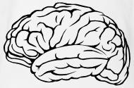 190x125 Brain Intelligence Intelligent Thinking Gift Organic Short Sleeved