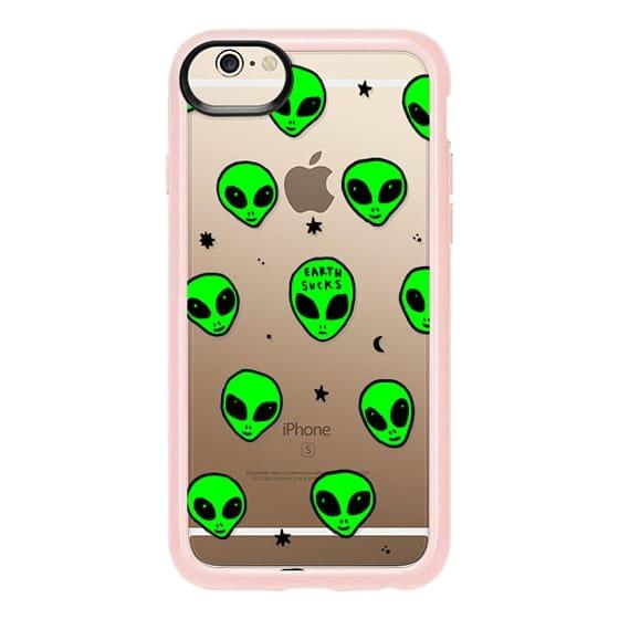 560x560 Cute Green Ufo Space Alien Drawing Pattern Casetify