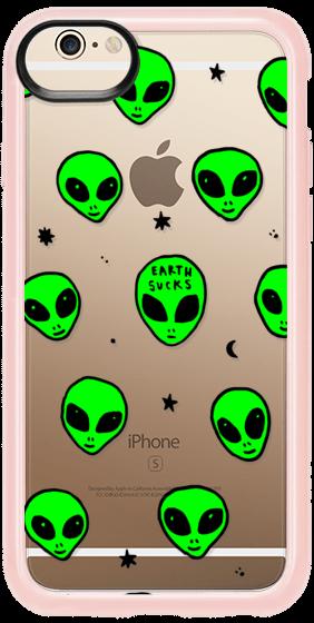 282x560 Cute Green Ufo Space Alien Drawing Pattern Casetify