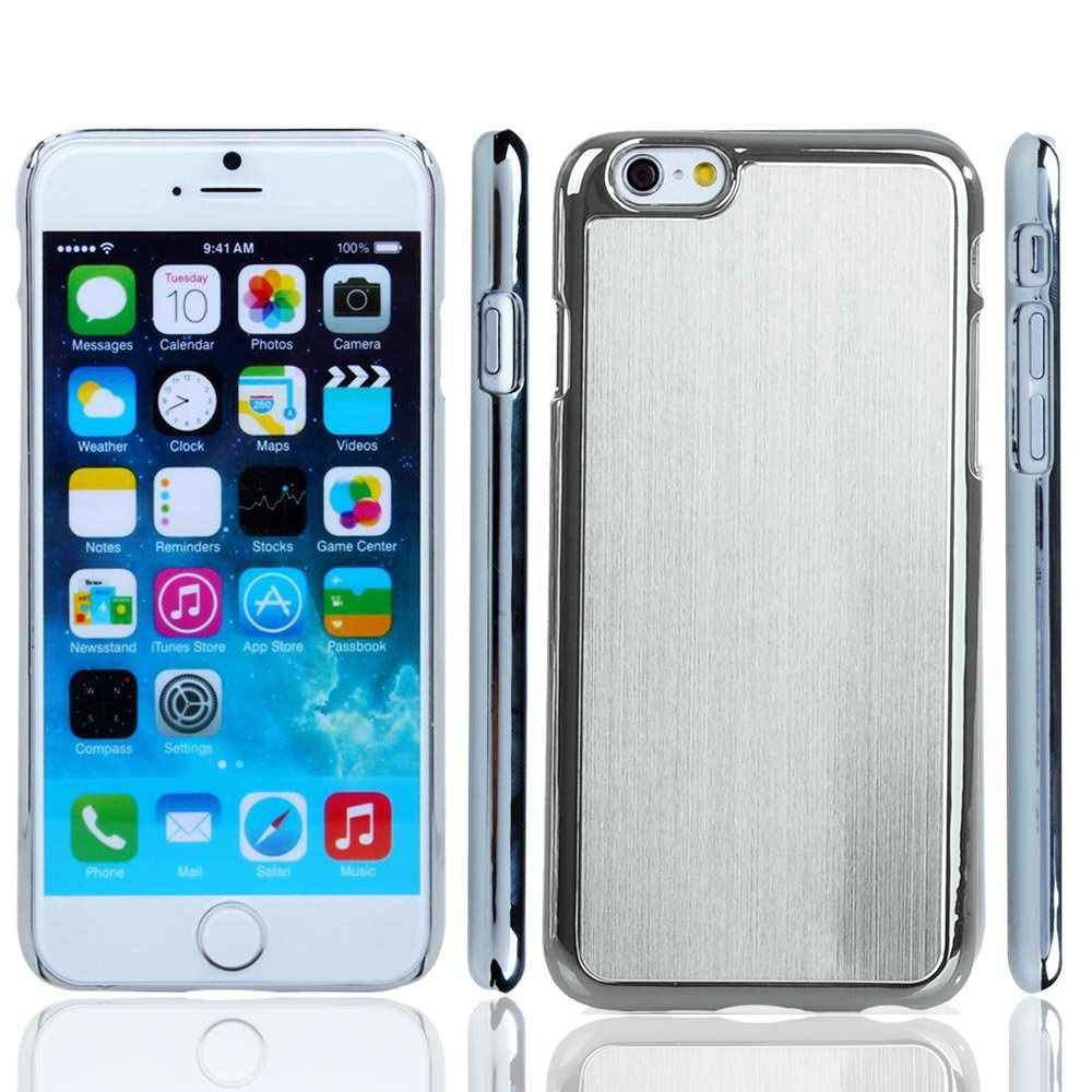 1000x1000 Luxury Wire Drawing Metal Aluminum Plated Hard Case Cover