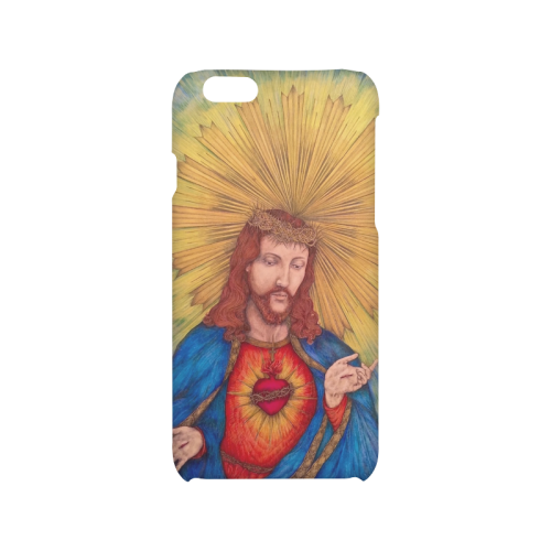 500x500 Sacred Heart Of Jesus Christ Drawing Hard Case For Iphone