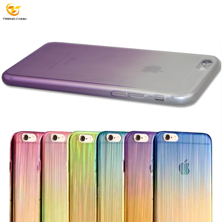 750x750 Soft Anit Shock Drawing Color Gradient Changing Tpu Cell Phone
