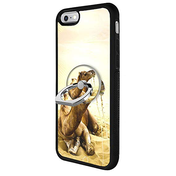 569x569 Camel Drawing Iphone Case With Ring Holder Stand
