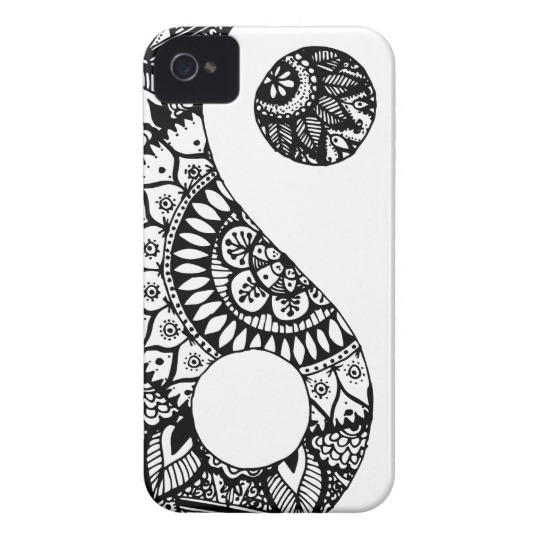 540x540 doodle yin yang hand drawn case mate iphone case
