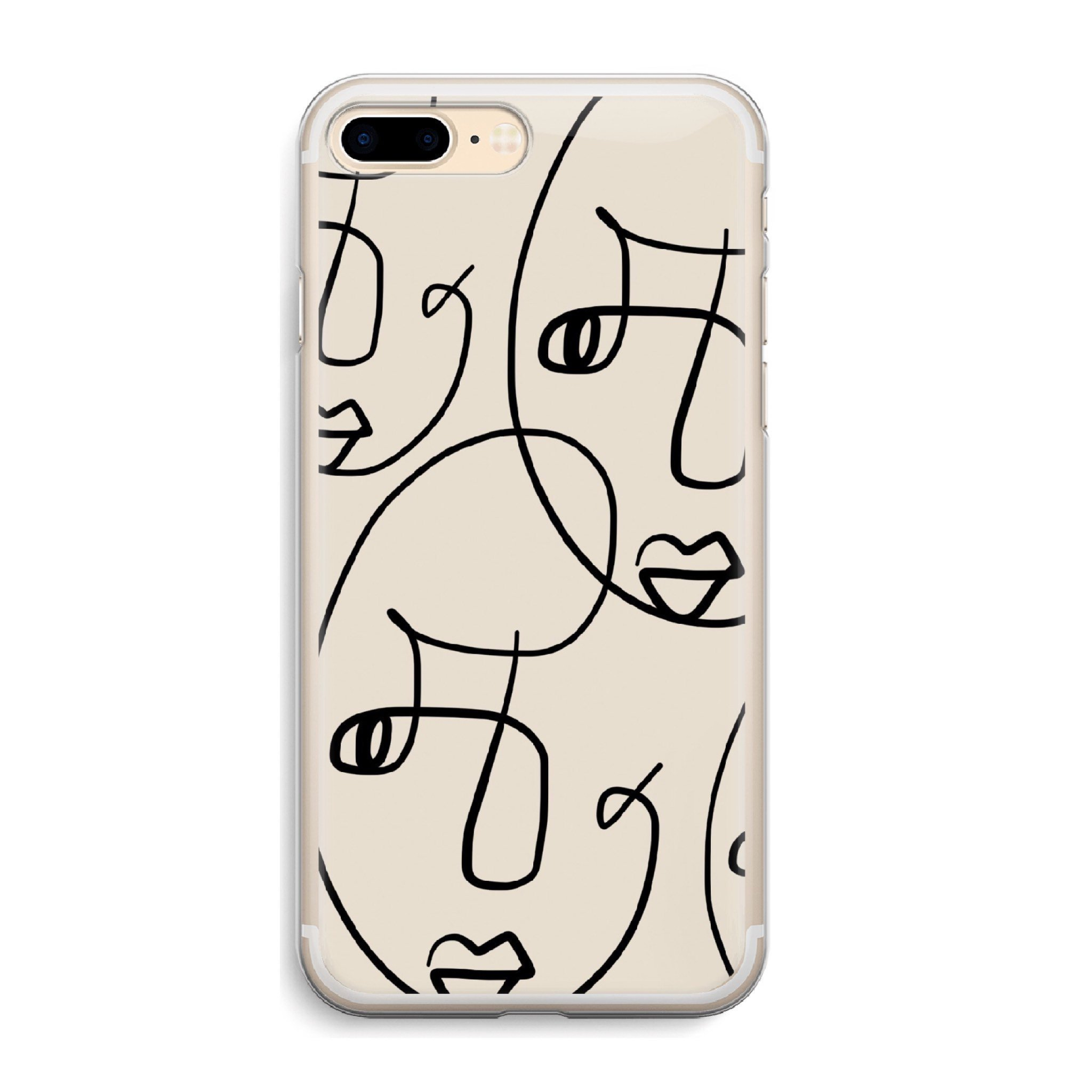 2048x2048 Face Picasso Iphone Case Line Art Abstract Drawing Phone Cases Etsy
