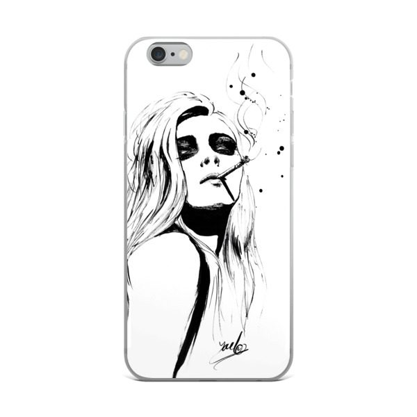 600x600 Beautiful Ink Hand Drawing Fashion Illustrated Iphone Case