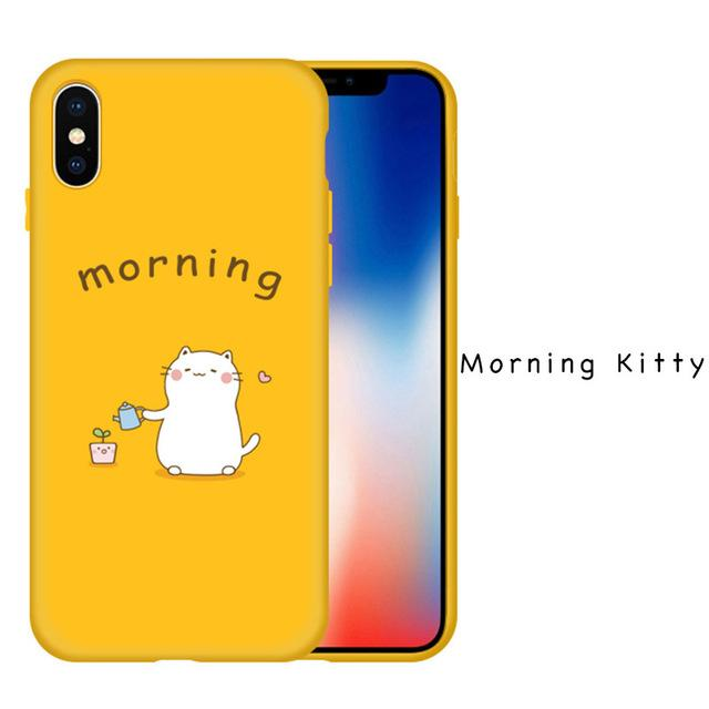 640x640 Iphone X Cute Original Drawings Silicone Case Ultra Thin Relief