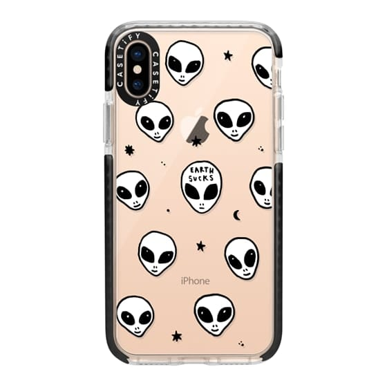 560x560 Cute White Ufo Space Alien Drawing Pattern Casetify