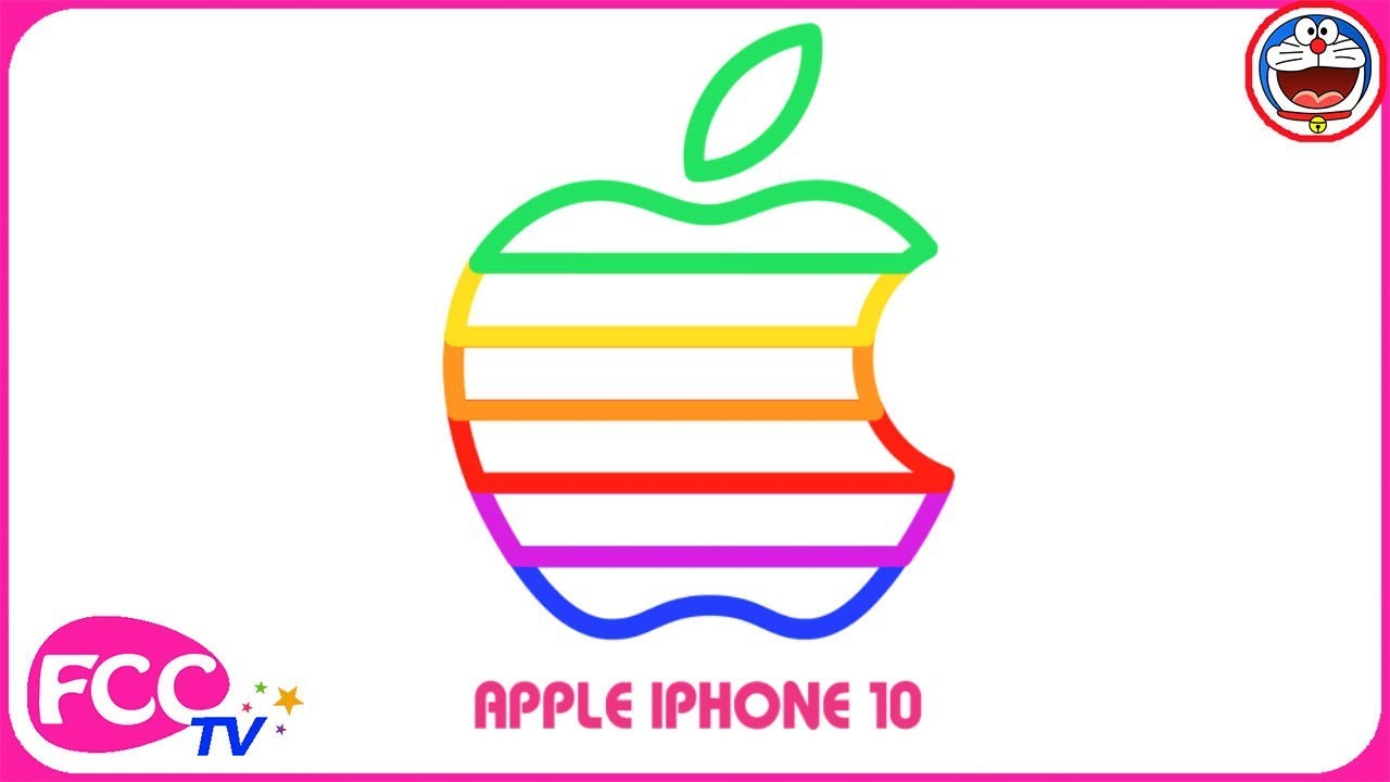 1280x720 How To Draw Iphone, Apple Logo Coloring