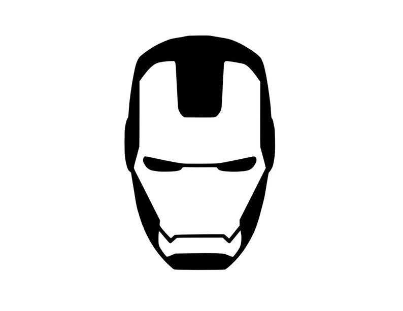 794x613 iron man mask decal avengers decal tony stark car decal etsy