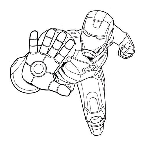Iron Man Cartoon Drawing