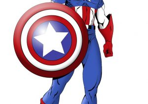 300x210 captain america cartoon drawing captain america hulk iron man