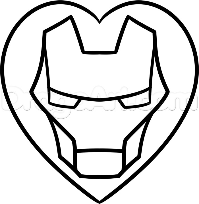 700x717 how to draw iron man collection of iron man face drawing easy