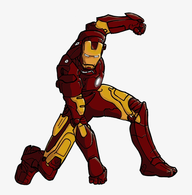 820x830 iron man draw colour iron man colour