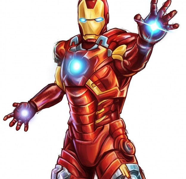 624x600 iron man colors collection of iron man drawing easy with color